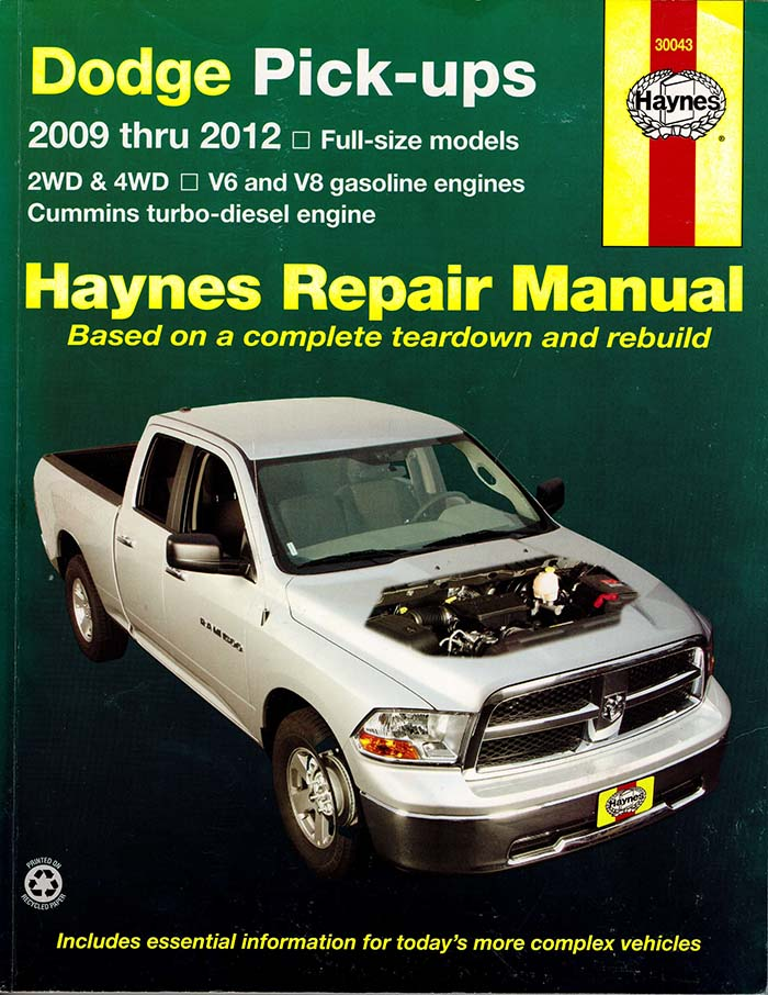 Haynes Repair Manual Dodge Ram