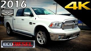 2016 RAM 1500 Laramie Longhorn EcoDiesel - Ultimate In-Depth Look in 4K